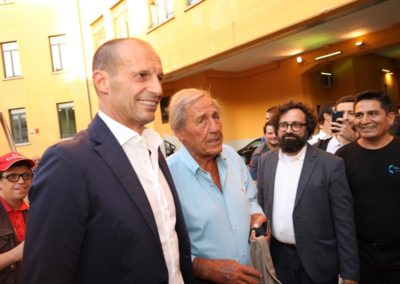 Massimiliano Allegri e il profeta Giovanni Galeone a Milano CalcioCity