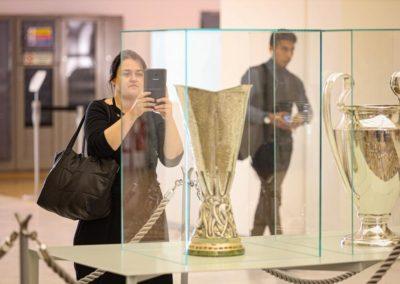 Esposizione Uefa Champions League e Europe League Cup in Triennale 2