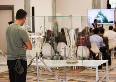 Esposizione Uefa Champions League e Europe League Cup in Triennale 3
