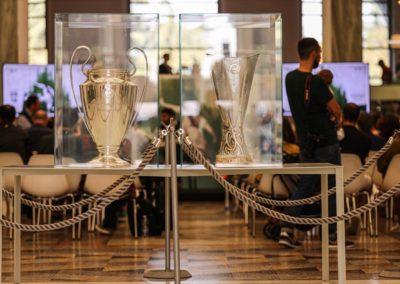 Esposizione Uefa Champions League e Europe League Cup in Triennale 4